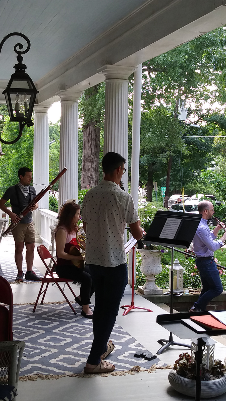 North Carolina Symphony musicians play chamber music at Raleigh home