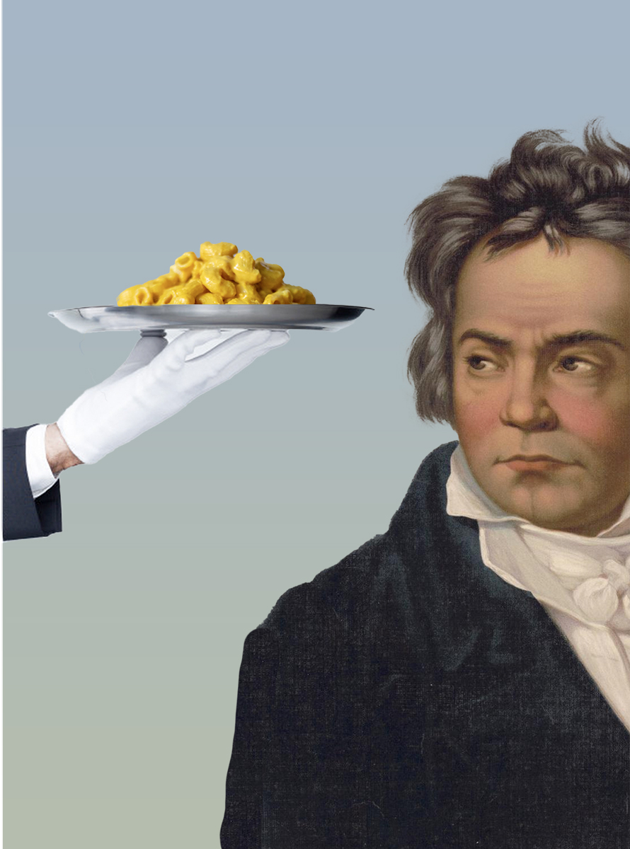 Beethoven loved macaroni and cheese